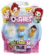 Ooshies 4 Pack Disney Princess Toppers - Snow White, Cinderella, Iridessa